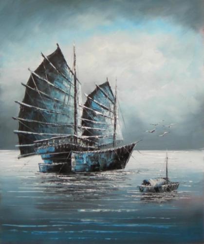 obraz Loď v noci