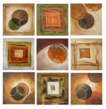 obraz Abstrakce čtverce a kruhy