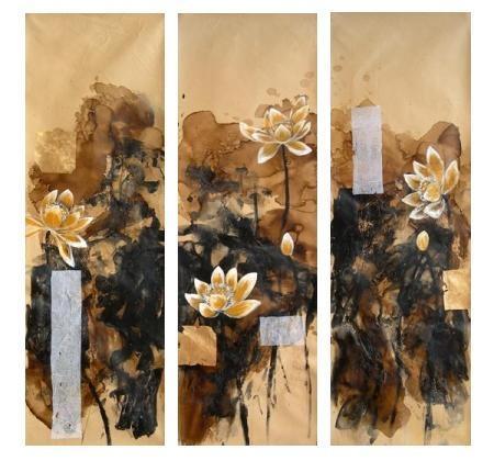 obraz Abstrakce květy leknínů