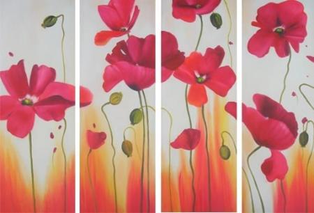 obraz Květy vlčích máků
