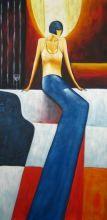 obraz Sedící žena