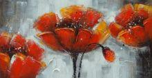 obraz Tři rudé květy