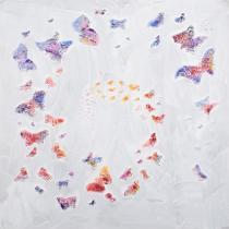 Motýli, koně, lodě - Motýlí spirála, obrazy ručně malované