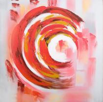 obrazy, reprodukce, Červené kruhy