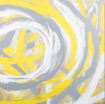 obrazy, reprodukce, žlté kruhy
