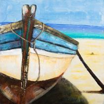 Motýli, koně, lodě - Loďka, obrazy ručně malované