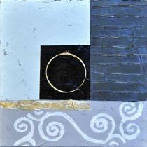 obrazy, reprodukce, Modrý abstrakt