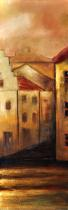 Domy, města, ulice - Budovy, obrazy ručně malované