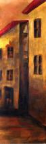Domy, města, ulice - Budovy 2, obrazy ručně malované