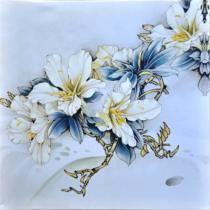 obrazy, reprodukce, Modro-biele kvety