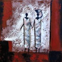 obrazy, reprodukce, Africké ženy v šedém 2