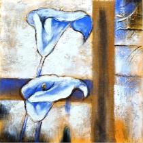 Abstraktní květiny - Kaly, obrazy ručně malované