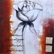 Abstraktní květiny - Růže, obrazy ručně malované