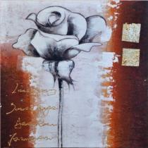 Abstraktní květiny - Růže 2, obrazy ručně malované