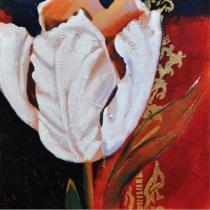 obrazy, reprodukce, Bílá květina 2