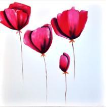 Obrazy květin - Máky 6, obrazy ručně malované
