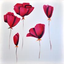 Obrazy květin - Máky 7, obrazy ručně malované