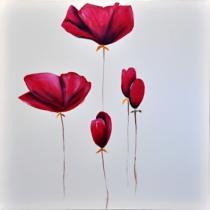 Obrazy květin - Máky 8, obrazy ručně malované
