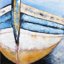 Motýli, koně, lodě - Loďka 2, obrazy ručně malované