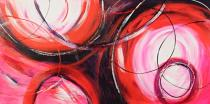 obrazy, reprodukce, Ružový abstrakt