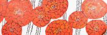 obrazy, reprodukce, Červené kytky