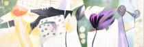 Abstraktní květiny - Květinový abstrakt, obrazy ručně malované