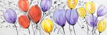 obrazy, reprodukce, Tulipány