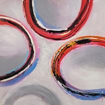 obrazy, reprodukce, Abstraktné kruhy