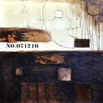 obrazy, reprodukce, Abstrakt hnedý 2