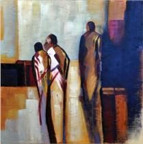 Abstraktní postavy - Postavy 2, obrazy ručně malované