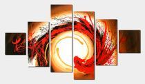 Vícedílné obrazy - Spirála, obrazy ručně malované