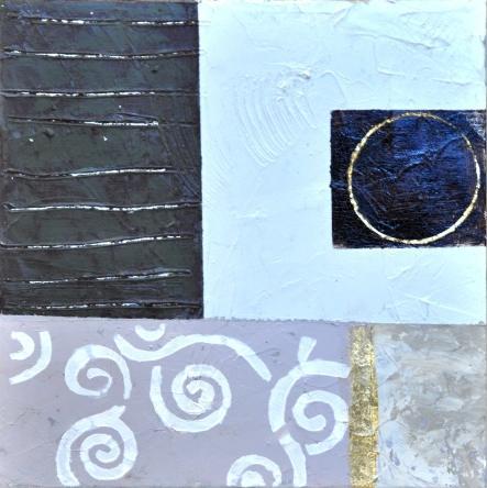 obraz Modrý abstrakt 3