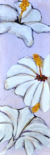 obraz Bílé květy 2
