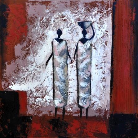 obraz Africké ženy v šedém 2