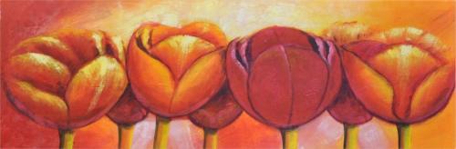 obraz Barevné tulipány