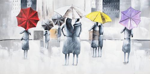 obraz Město v dešti