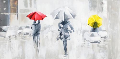 obraz Lidé v dešti