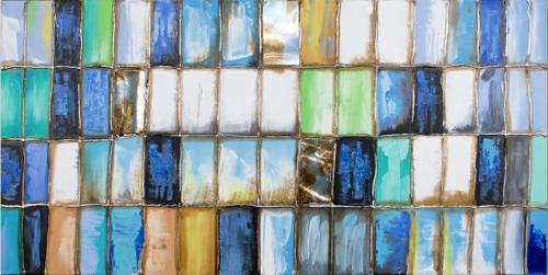 obraz Modrá mozaika