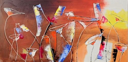 obraz Barevné vázy