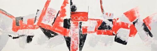 obraz Červený abstrakt