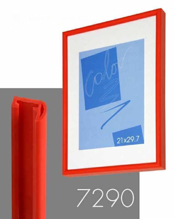 obraz Rám na plakát - červená