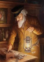 obrazy, reprodukce, Žid s lucernou