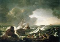 obrazy, reprodukce, Búrky na mori