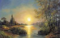 bestseler: Jezero, západ slunce
