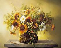 obrazy, reprodukce, Kvety