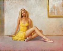 obrazy, reprodukce, Baletka. Blondýnka