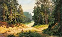 obrazy, reprodukce, Lesní cesta