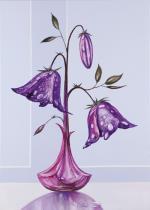 obrazy, reprodukce, Orosená Květina II