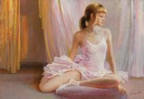 obrazy, reprodukce, Baletka. Polštář