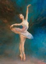 obrazy, reprodukce, Baletka. Tančící